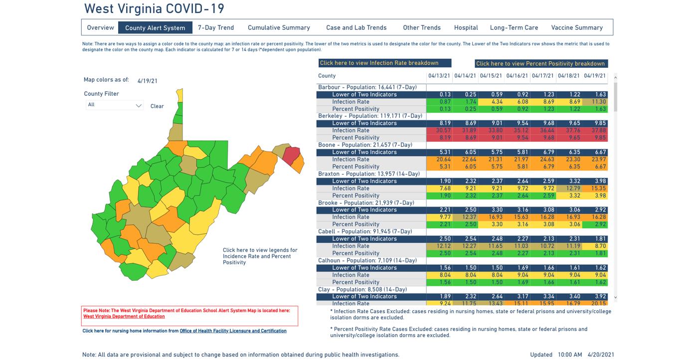 County Alert Map 04-20