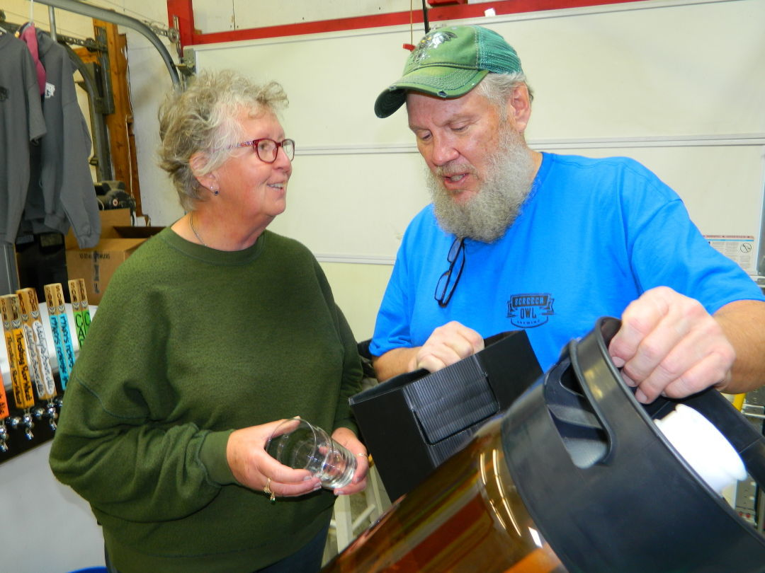 Crista Johnson and husband Roger of Screetch Owl Brewing