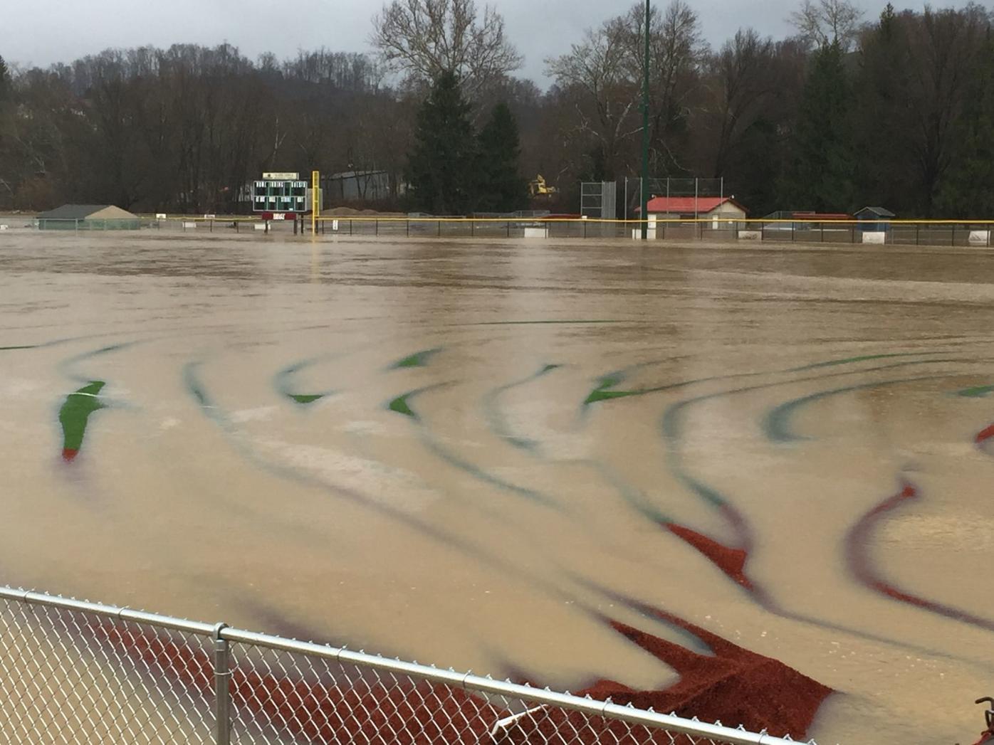 Loria Field flooding