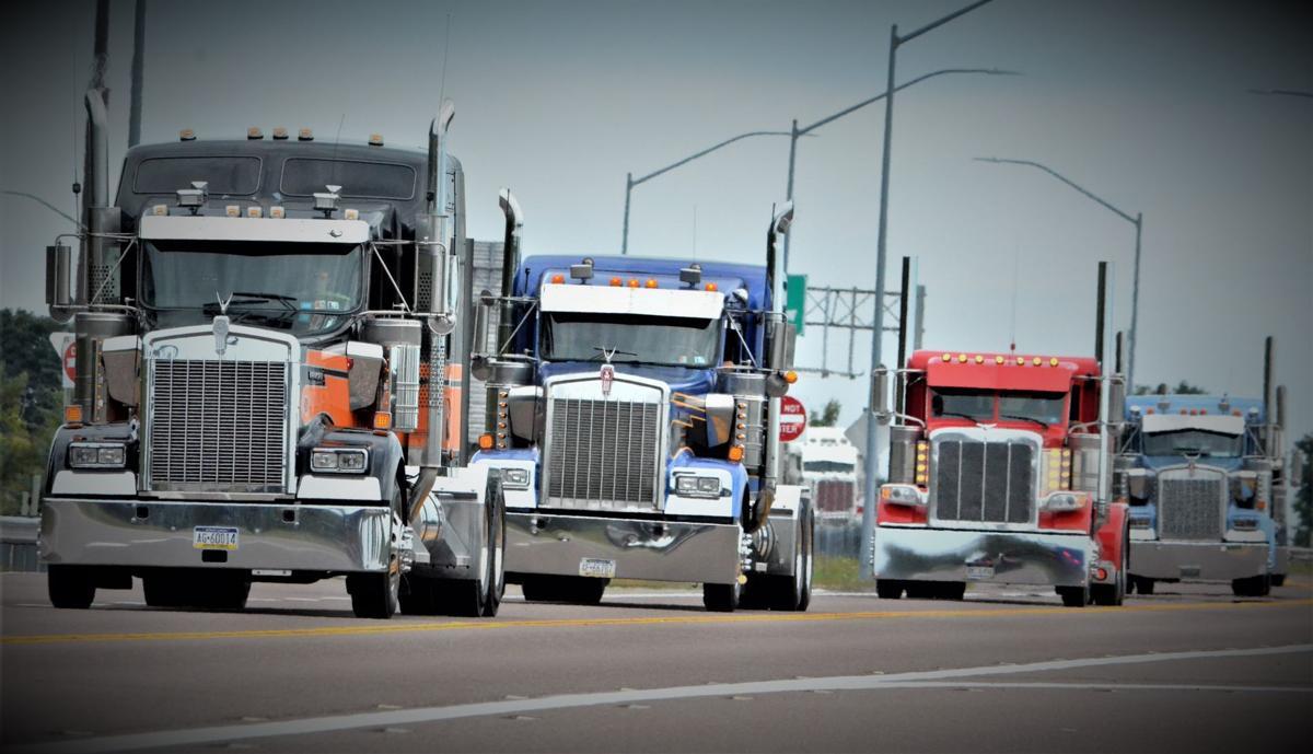 Trucks on U.S. 219