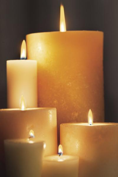 Obituary candles