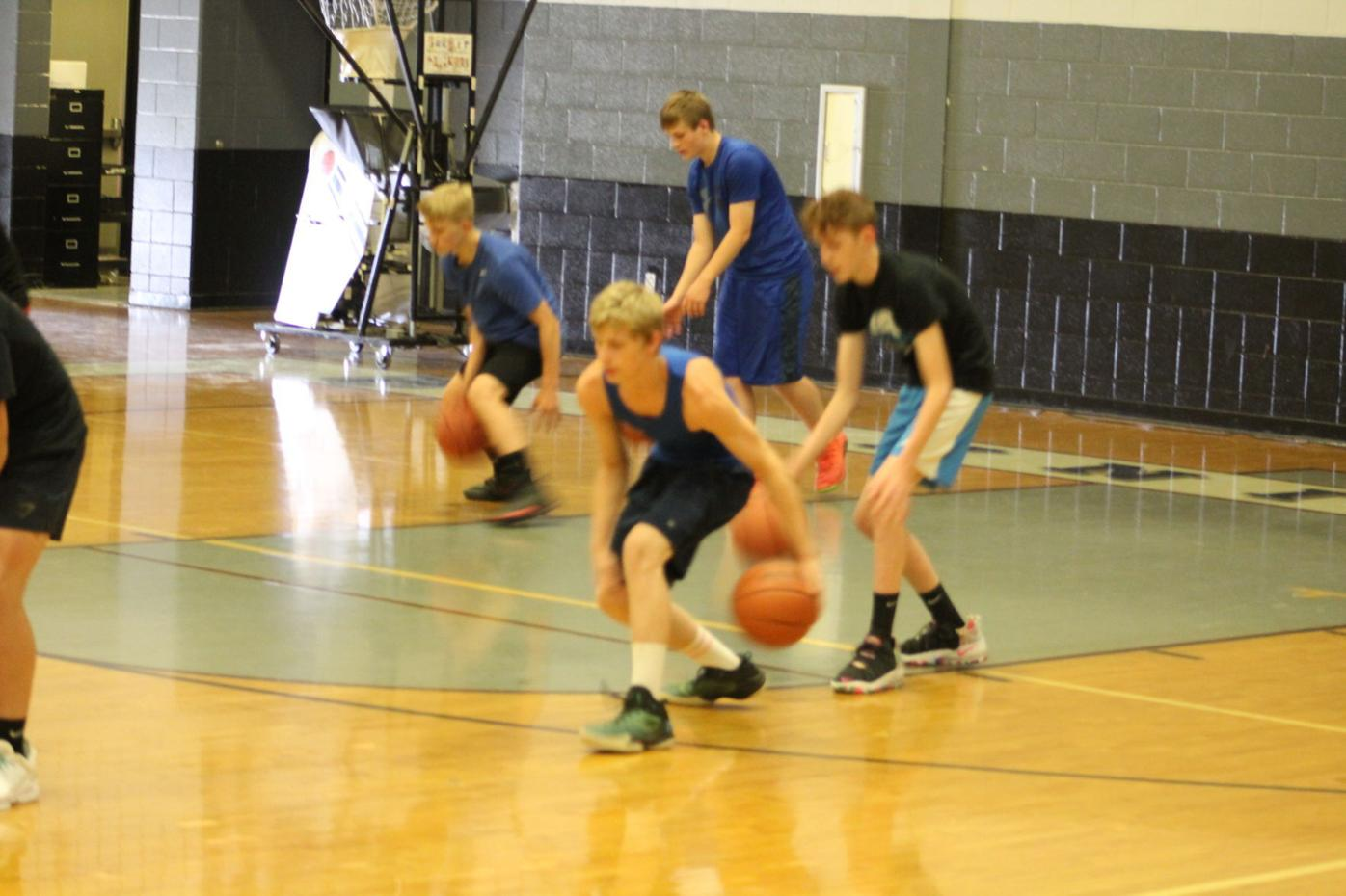 PHS basketball practice drill