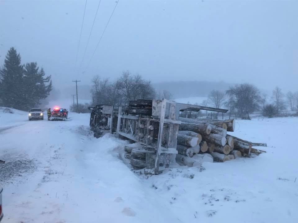 Sand Flat Road closed for several hours for tractor trailer wreck