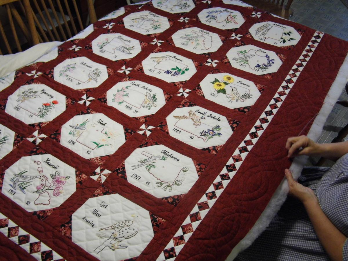 State bird and flower quilt