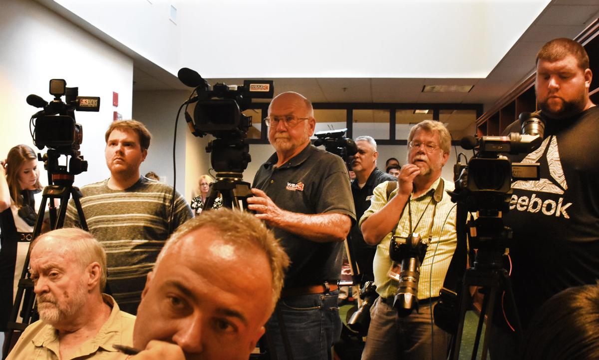 Media at Loughry indictment