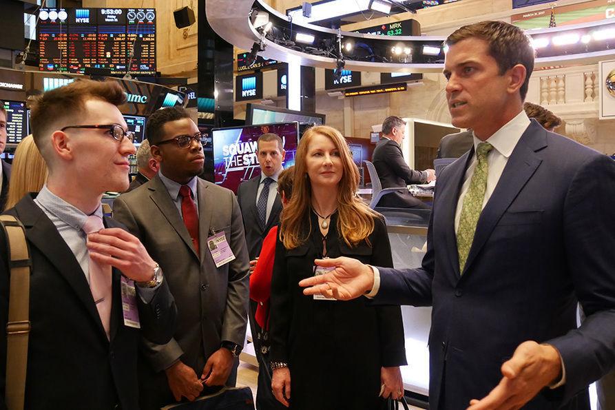 WVU finance students on NYSE floor