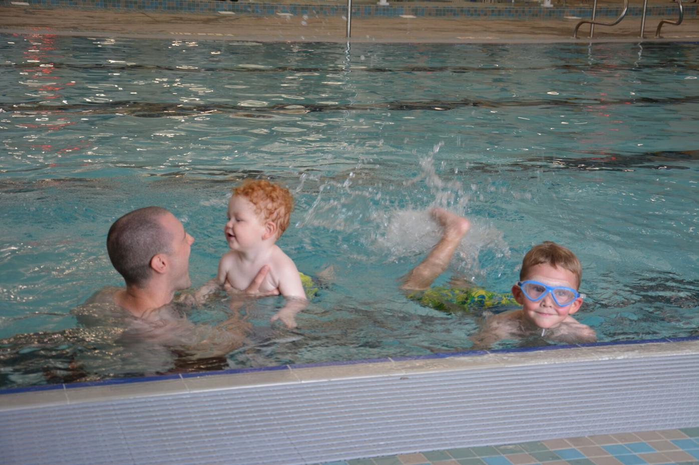 Enjoying summer swim