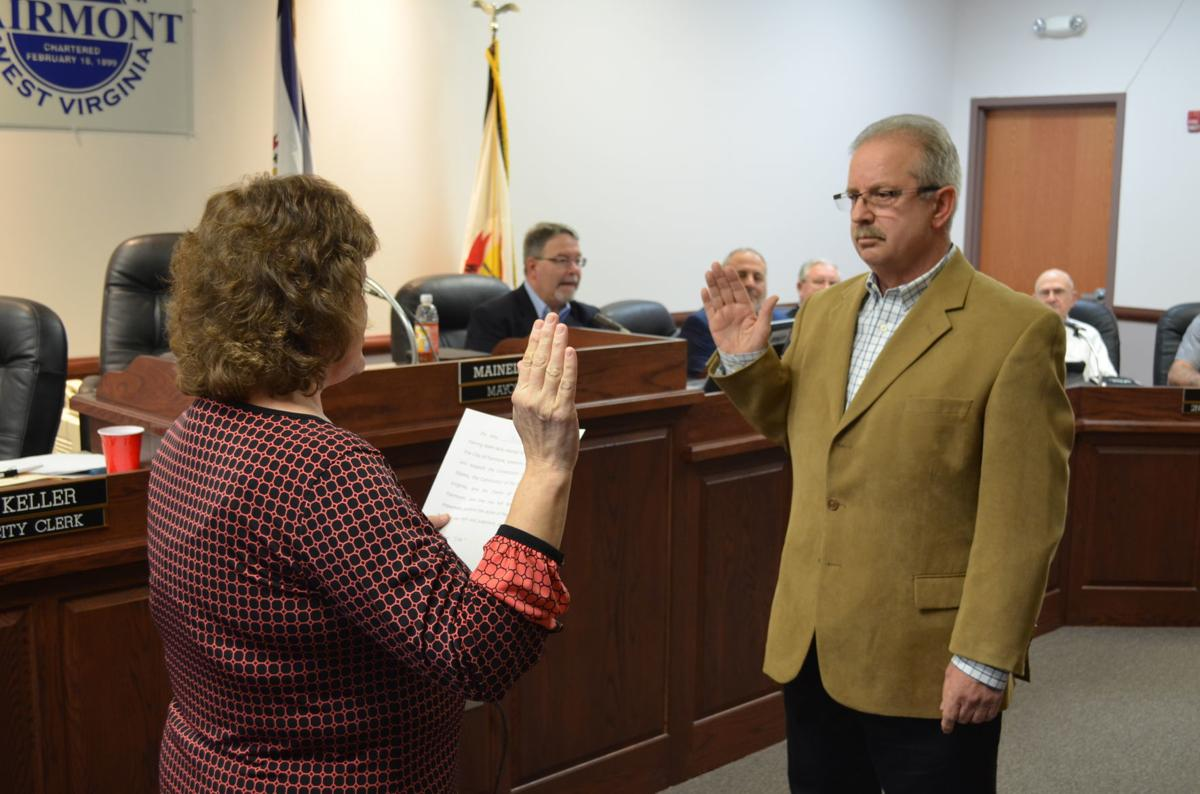 Mayor Merrifield swears in