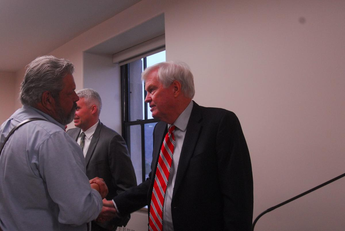 Putnam County officials and Mike Hall