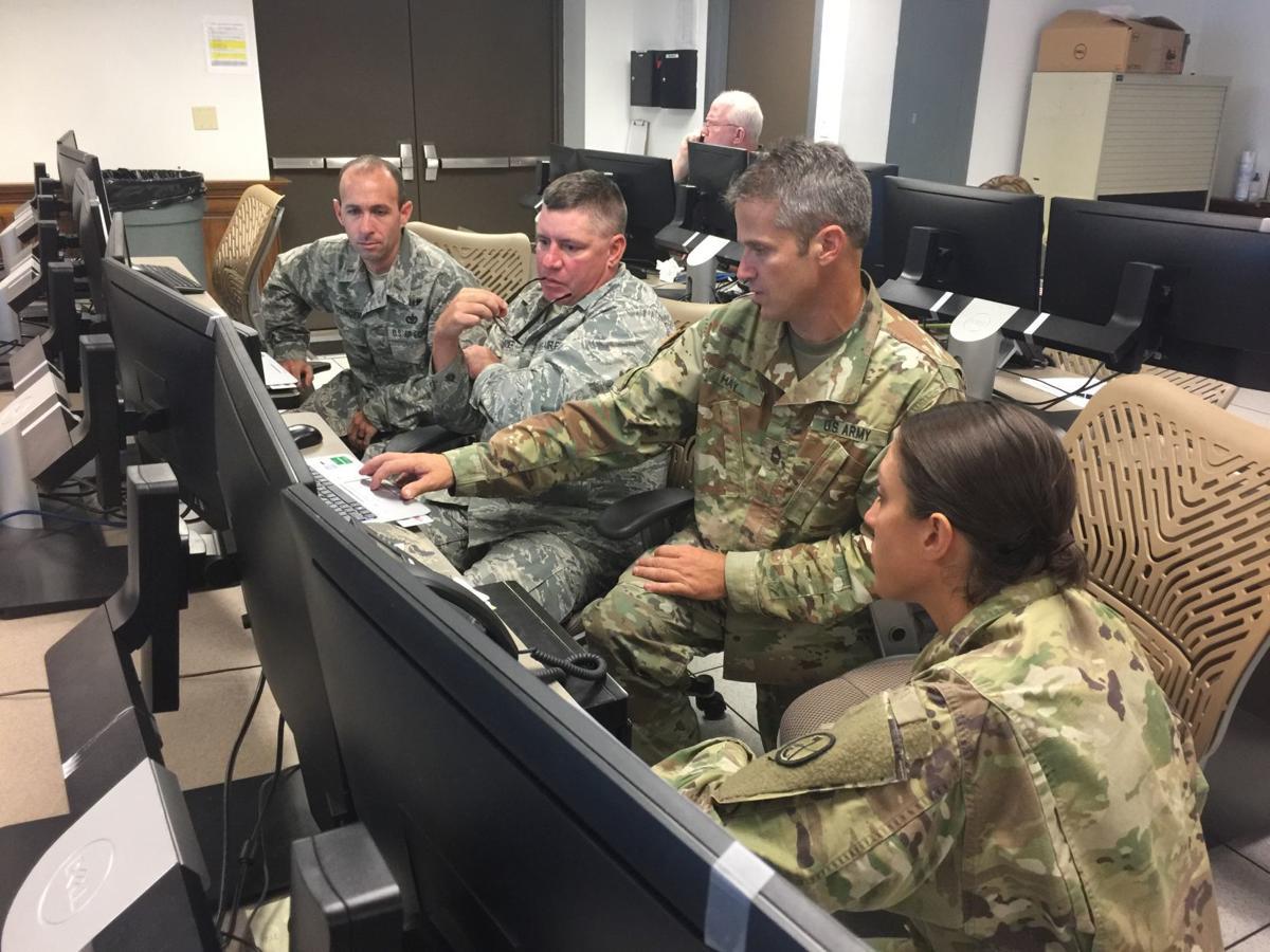 W.Va. National Guard in EOC