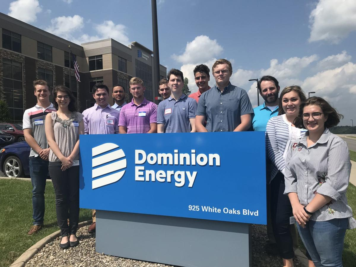 2017 LCHS graduate interns at Dominion Energy