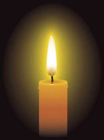 Obituary candle