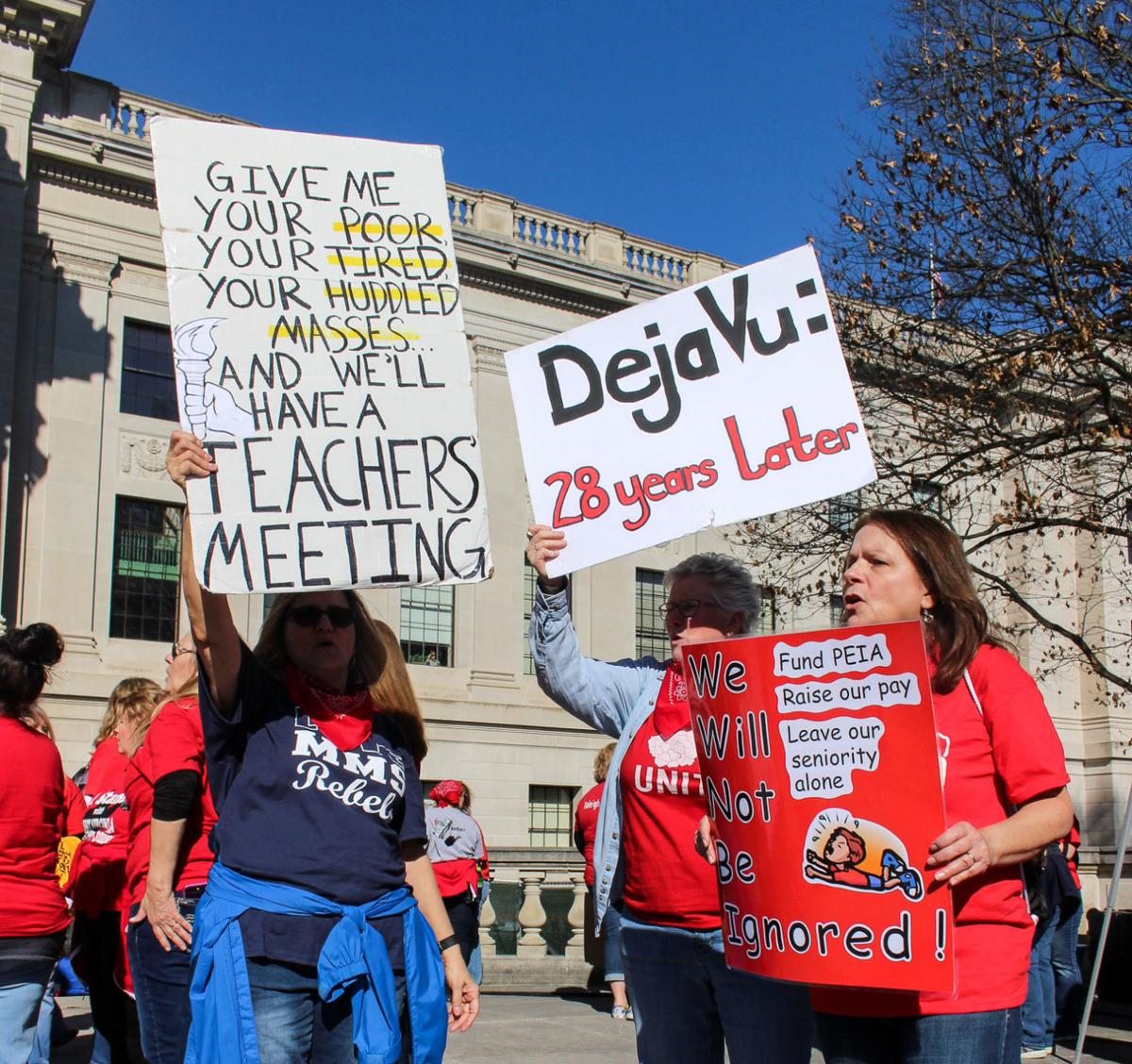 West Virginia teachers strike at the State Capitol