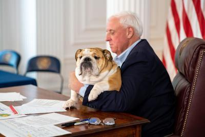 Justice w/ babydog