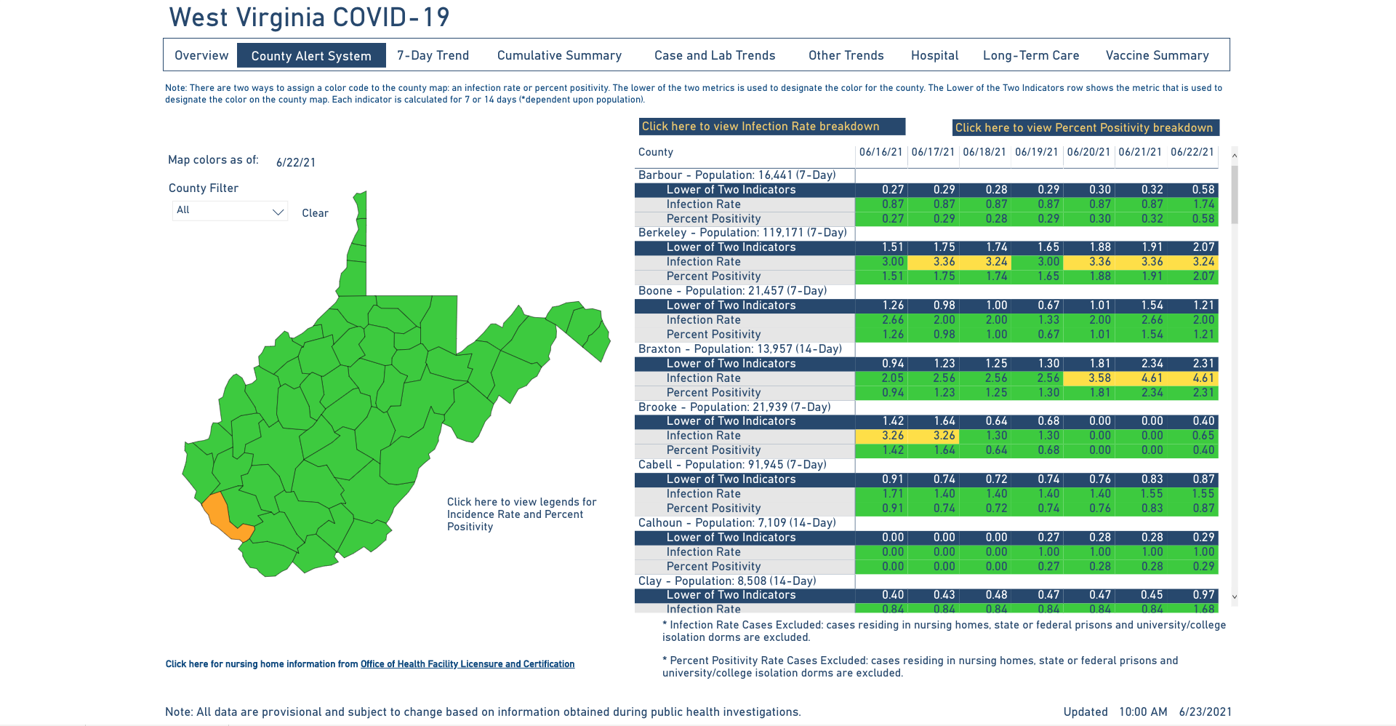 County Alert Map 06-23