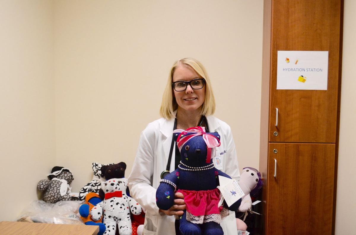 Melissa Bedilion with teddy bears
