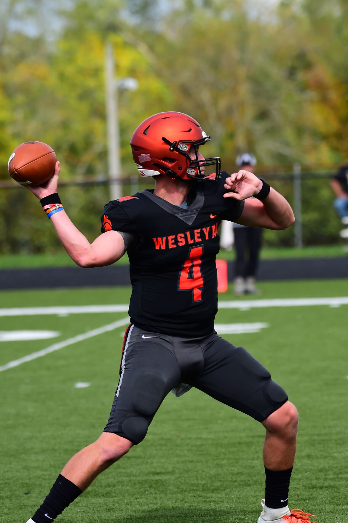 Briar Wilfong fires over the middle.JPG