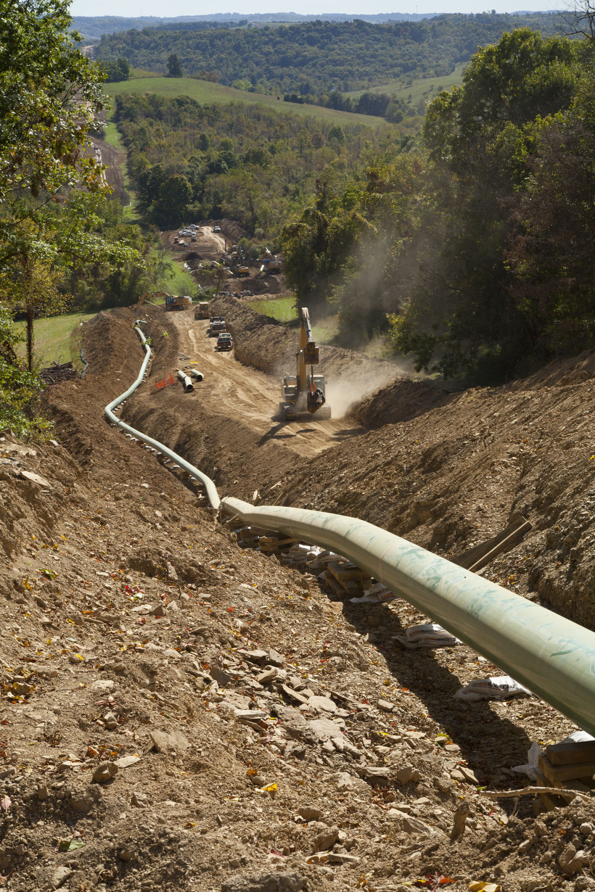 EQT pipeline construction