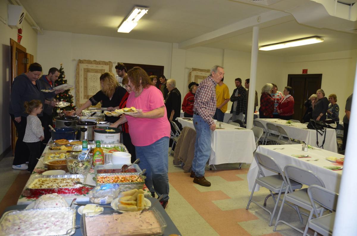 Dozens enjoy free Christmas dinner