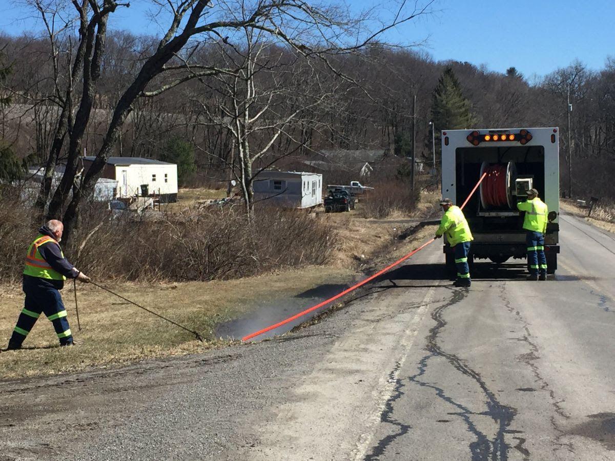 Road work in Preston County