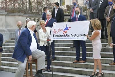 'Big Jim's Broadband Plan for Prosperity' sign