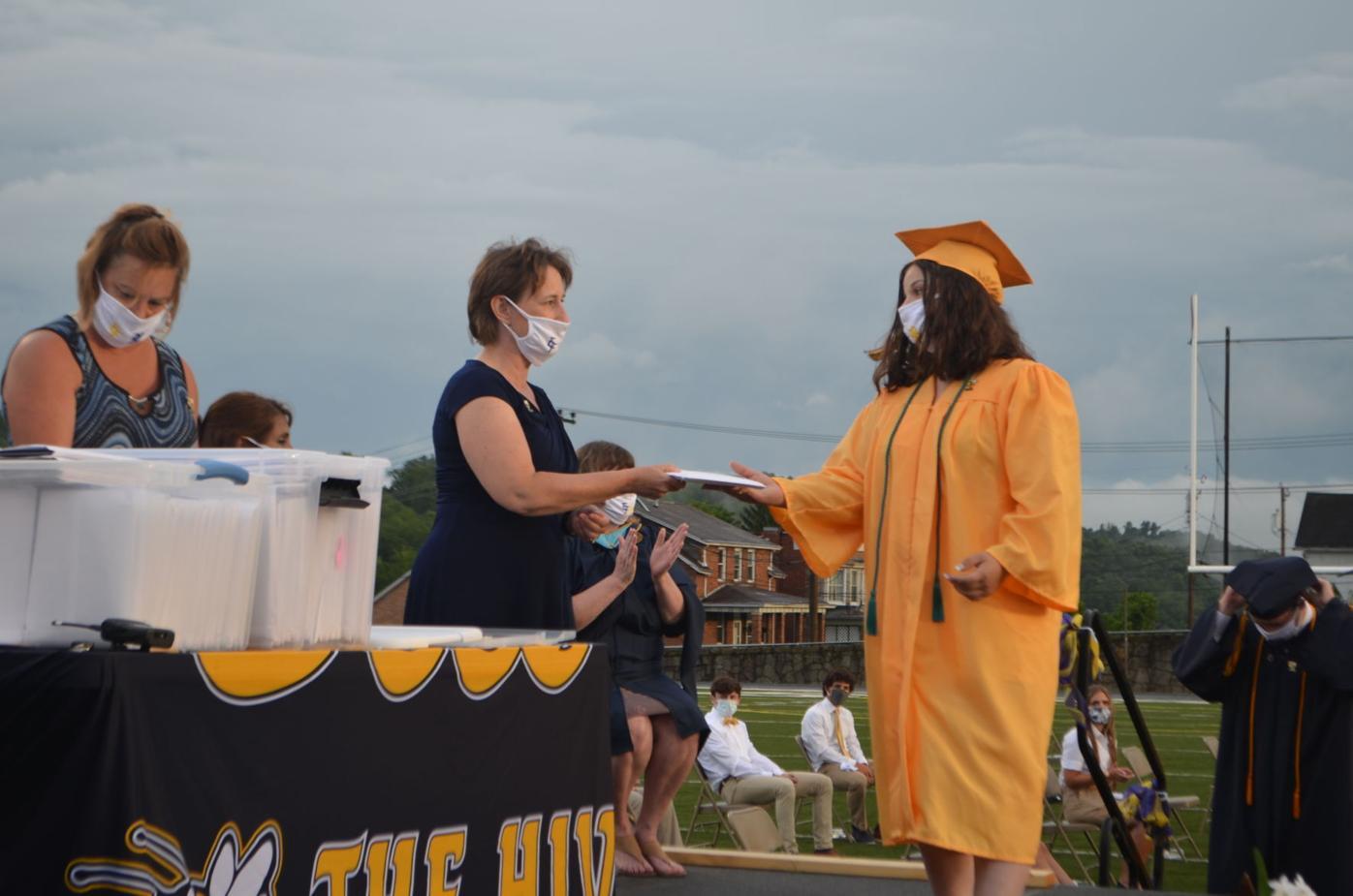 EFHS 2020 graduation - diplomas