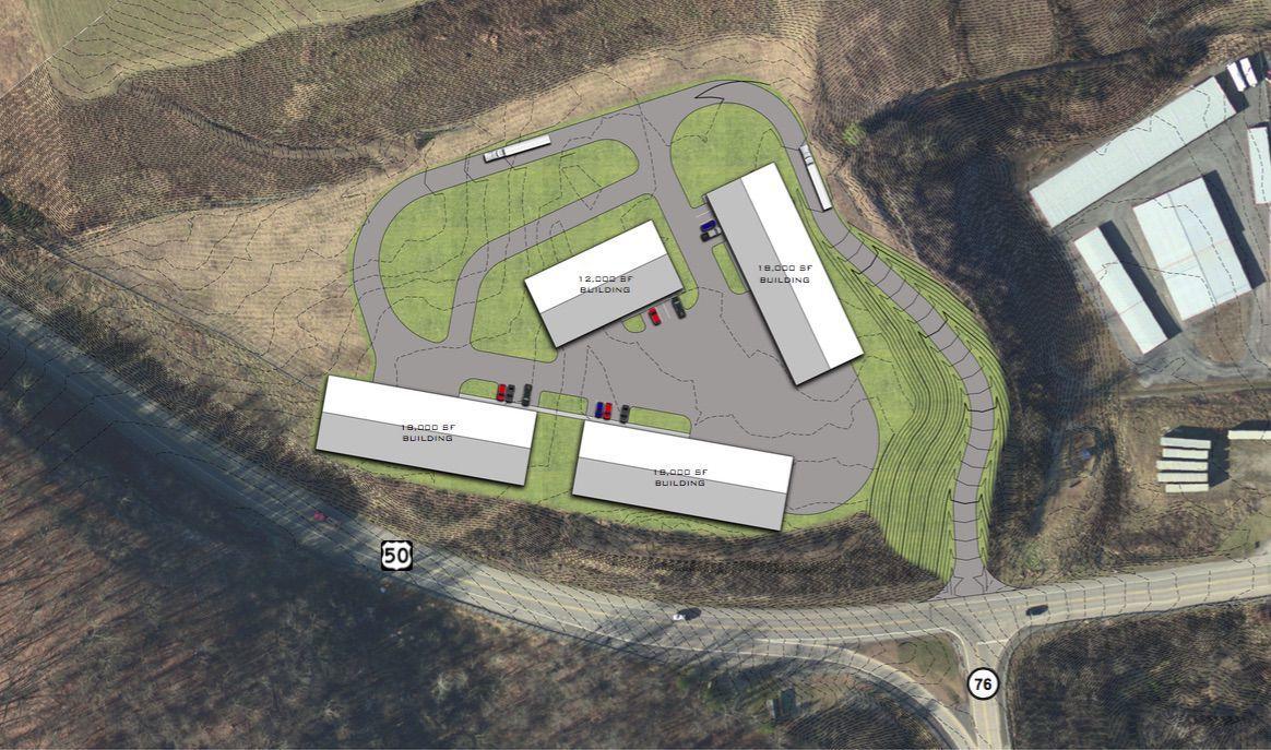 Logistics park rendering