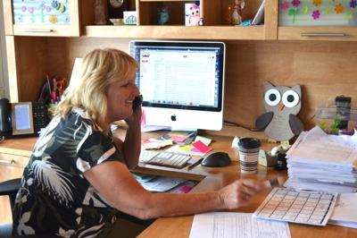 Carol Peters at work