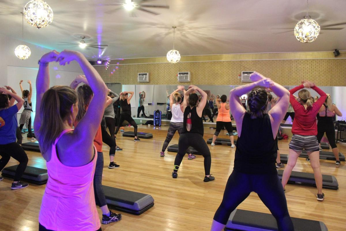Work out class at WV Fitness 24