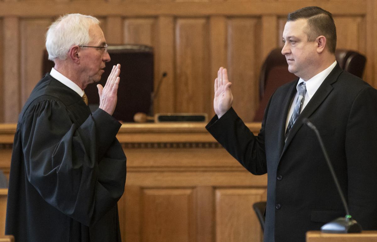 Shawn D  Nines sworn in as judge in Taylor, WV, Barbour WV