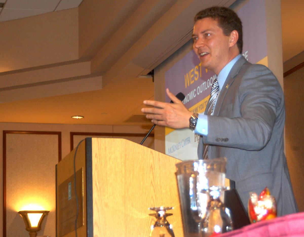 John Deskins, economic outlook conference