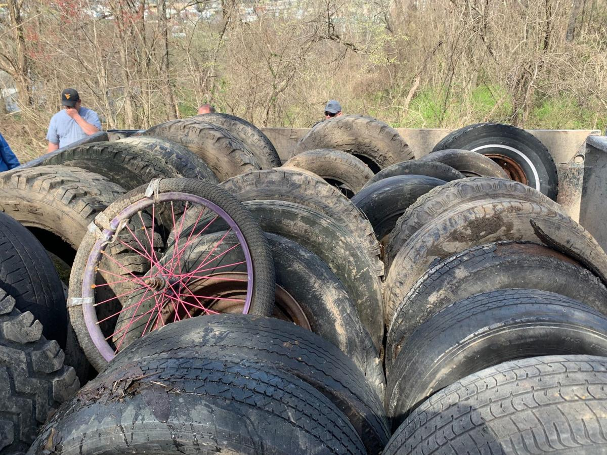 Stream Cleanup - tires