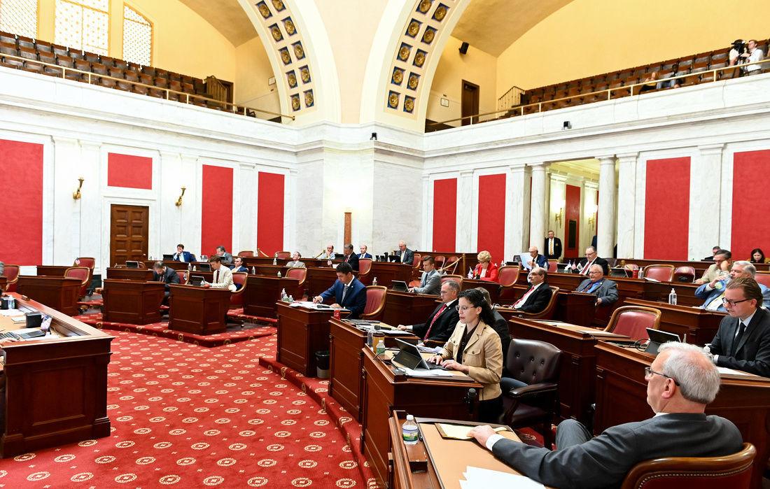 Lawmakers in Senate Chamber
