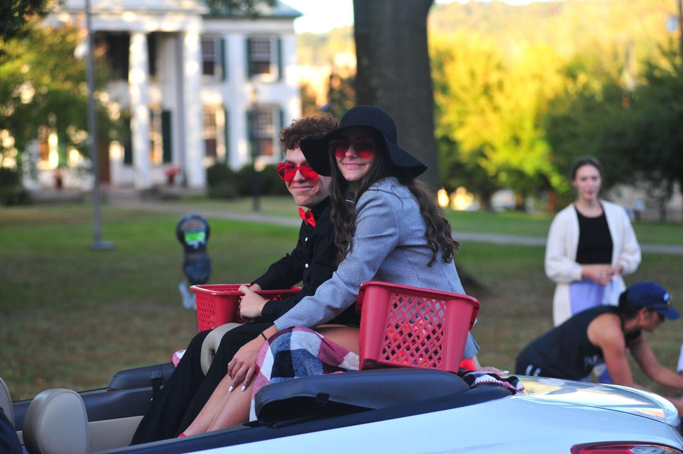 frosh princess Jazalynn Ray and escort Izaiah Bolden.JPG