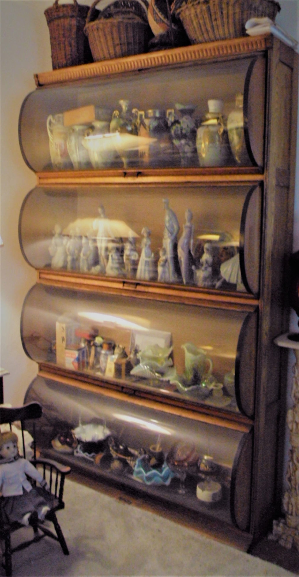 This Haberdashers Cabinet Is Great For Displaying Collectibles