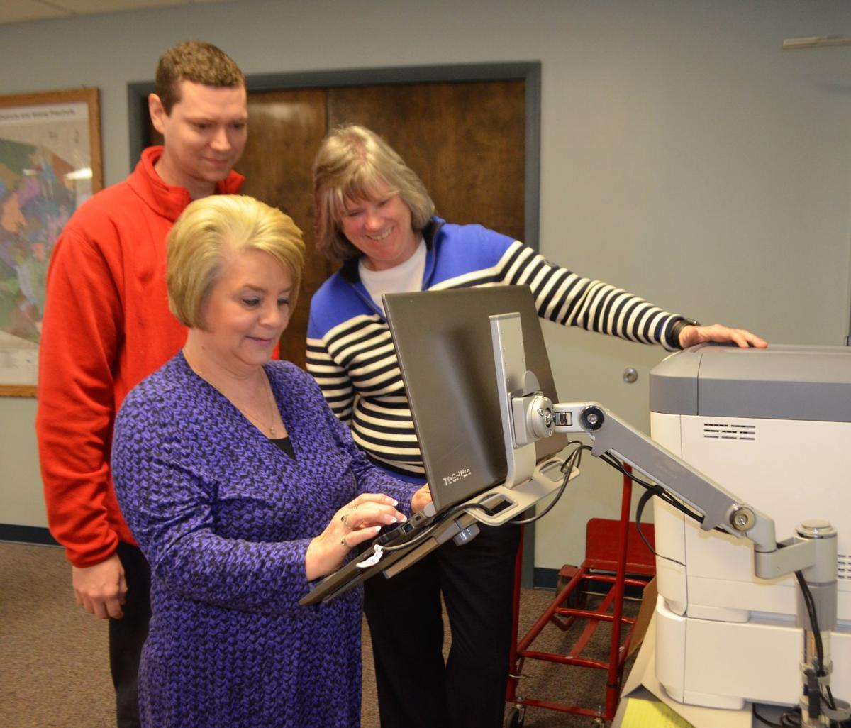 Harrison County Clerk secure military mobile voting team