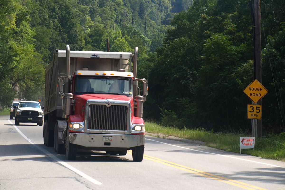 Coal truck in Kanawha County