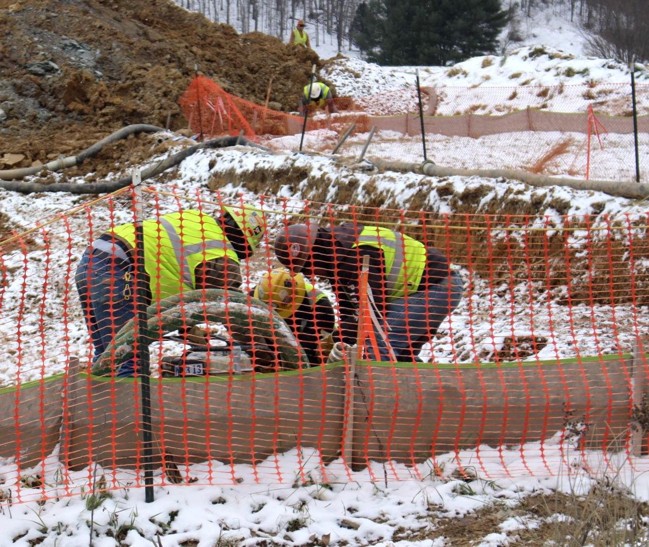 Line work near Weston