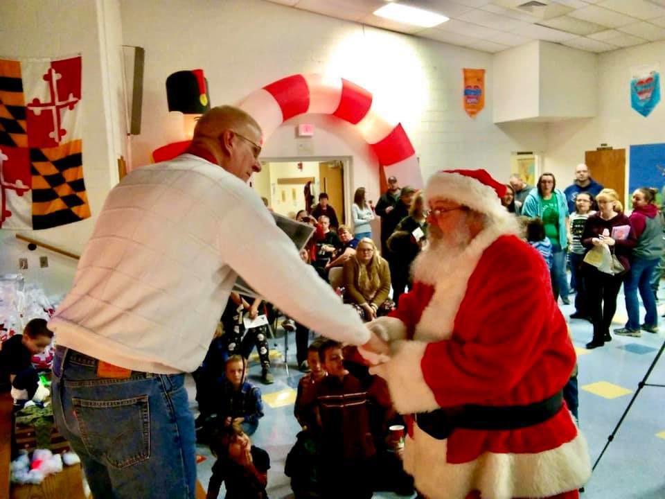Spencer Schlosnagle with Santa Claus