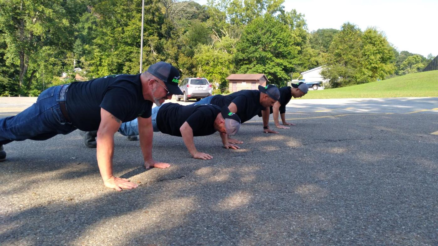 Completing push ups