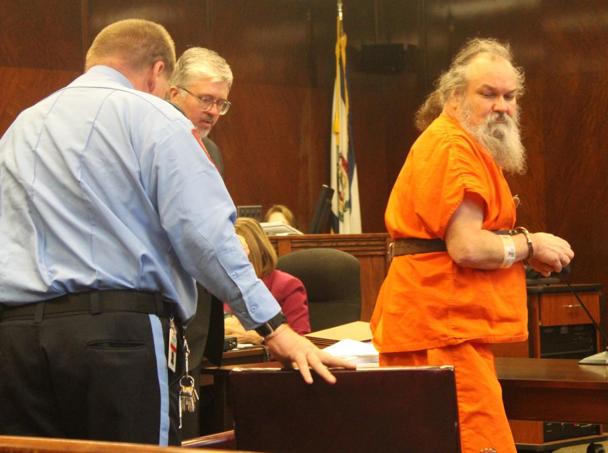 Campbell exiting courtroom