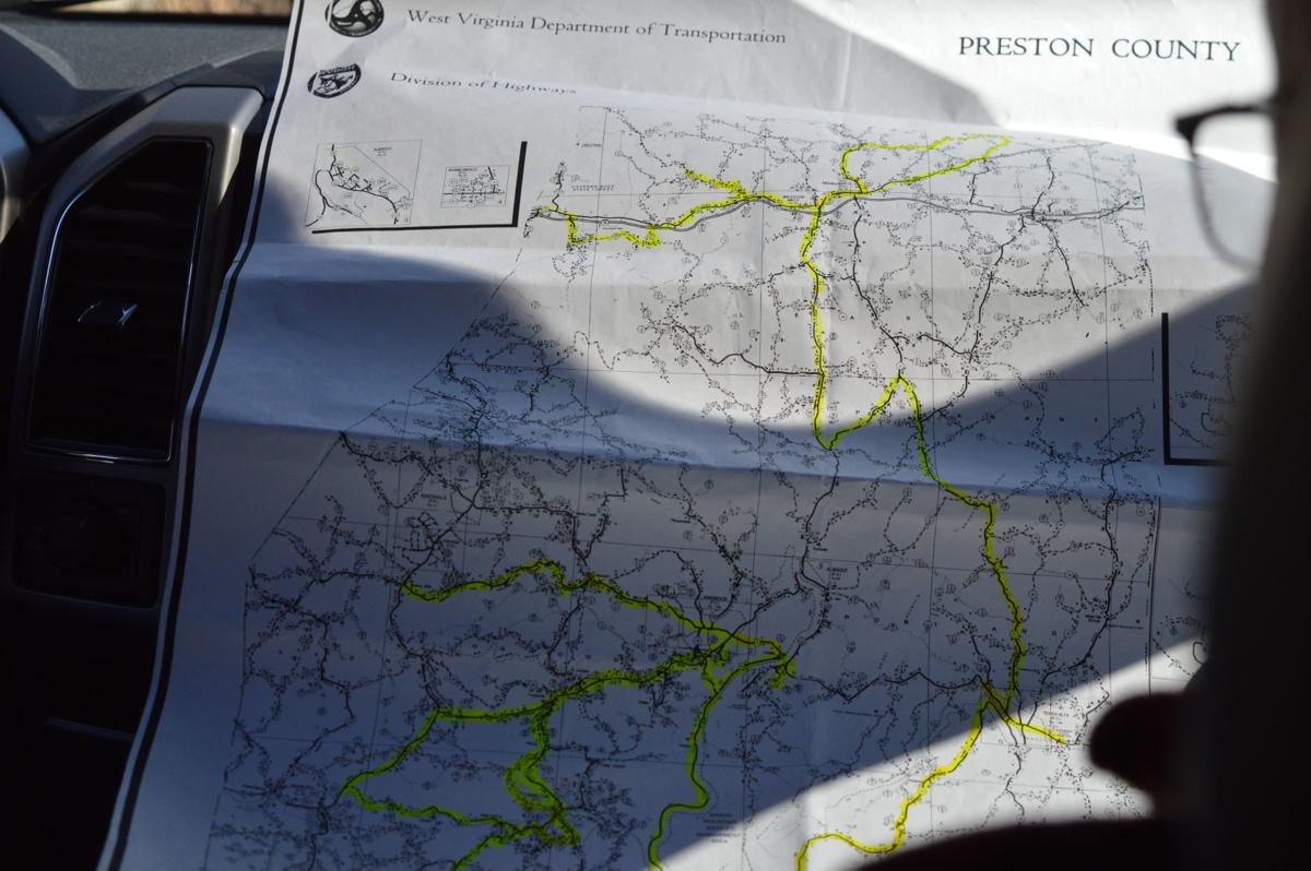 Preston County Road Map