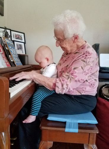 Mary with great-grandson