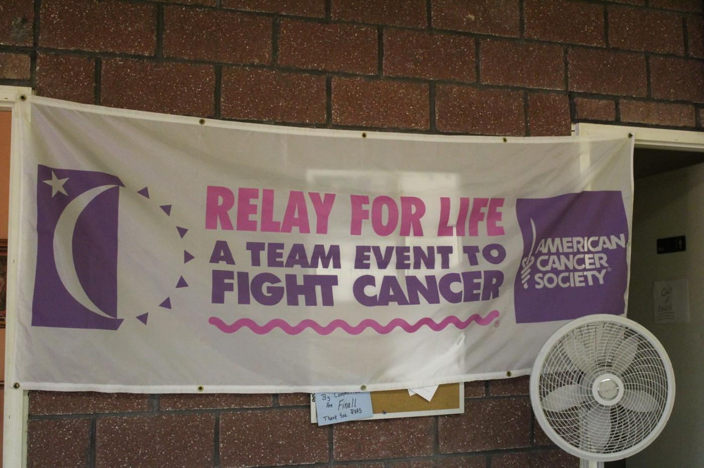 2021 relay for Life sign