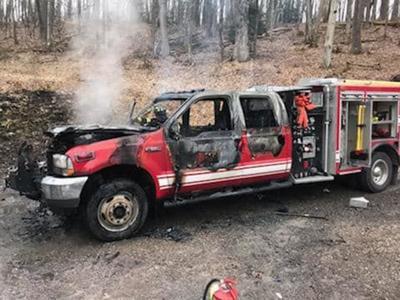 Insurance carrier sues after fire truck burns