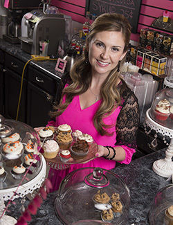 Anna Carrier, owner of The Cupcakerie