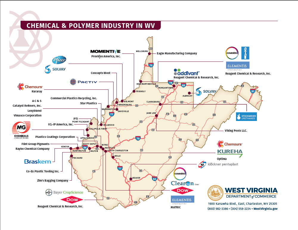 Why West Virginia?: Energy, manufacturing, technology experts ... Kanawha County Industry Map on shenandoah county map, university of north carolina at chapel hill map, lincoln county map, roosevelt county map, doddridge county wv map, sumner county map, letcher county map, charleston wv county map, roane county map, upshur county wv map, west va county map, grave creek mound map, delaware county map, chariton county map, kanwha county map, monongalia county map, nodaway county map, hodgeman county map, boyd county map, greeley county map,