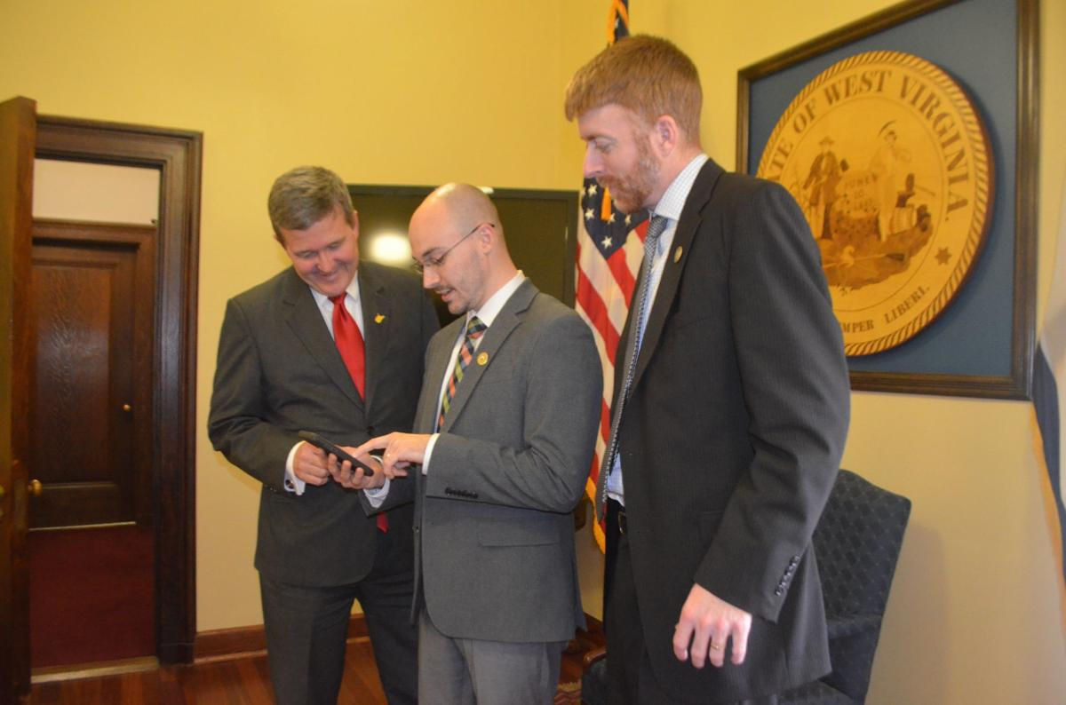 Secretary of State Mac Warner, Donald Kersey and Chuck Flannery