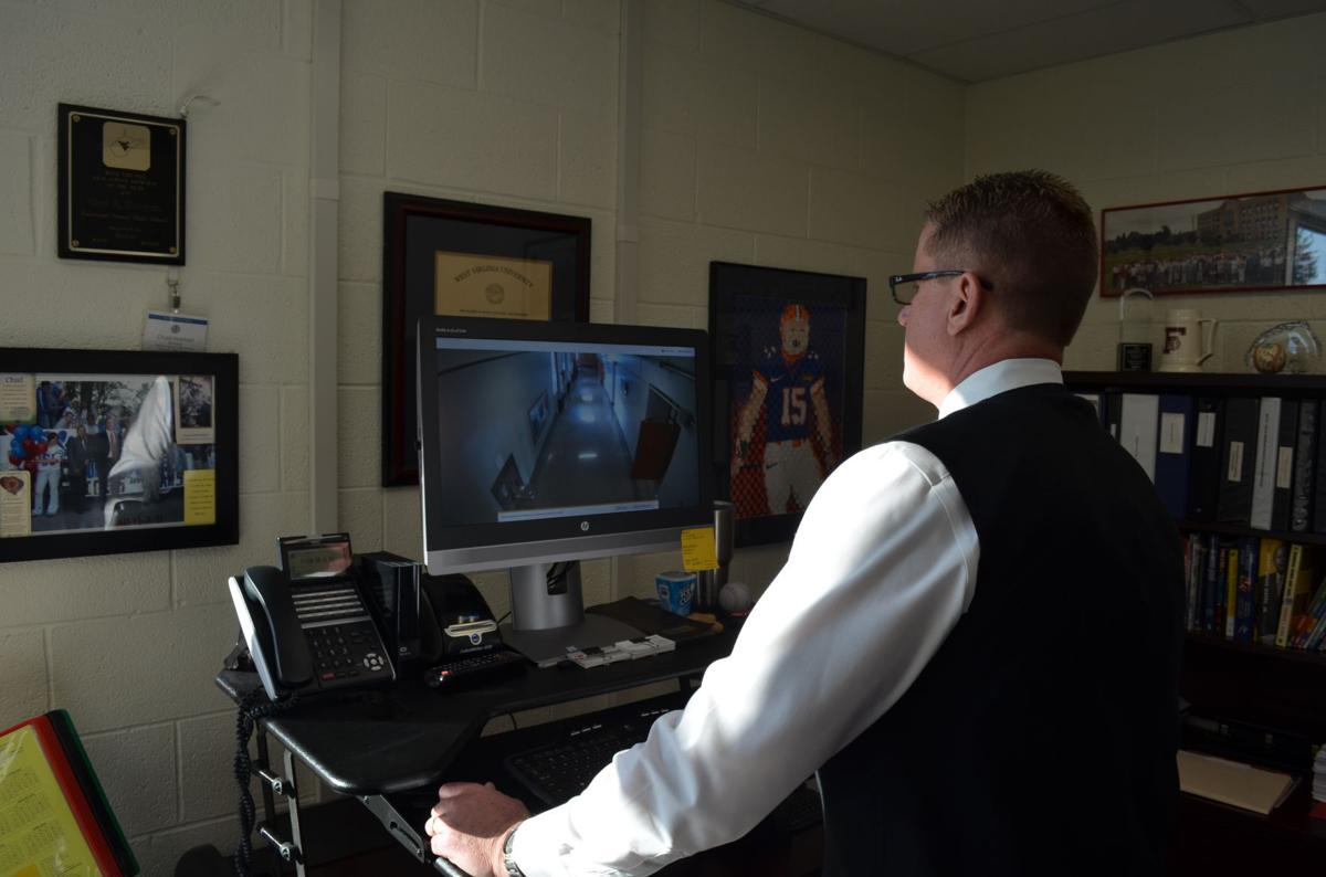 Norman monitors cameras