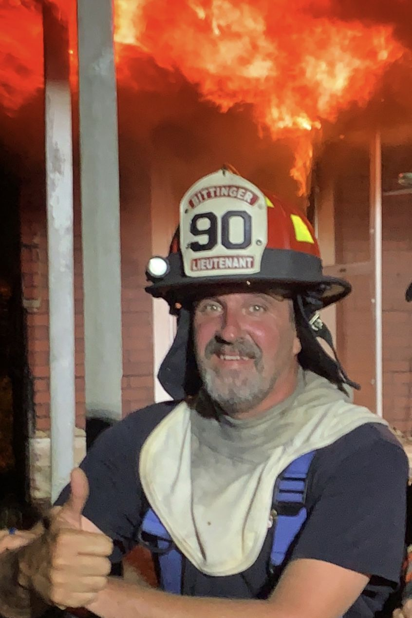 Dennis at house fire